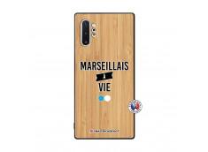 Coque Samsung Galaxy Note 10 Plus Marseillais à Vie Bois Bamboo