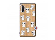 Coque Samsung Galaxy Note 10 Plus Petits Chats Bois Bamboo