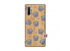 Coque Samsung Galaxy Note 10 Plus Petits Elephants Bois Bamboo