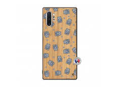 Coque Samsung Galaxy Note 10 Plus Petits Hippos Bois Bamboo