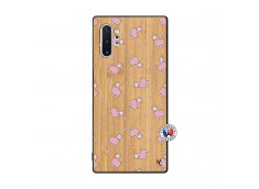 Coque Samsung Galaxy Note 10 Plus Petits Moutons Bois Bamboo