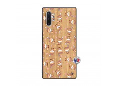 Coque Samsung Galaxy Note 10 Plus Petits Renards Bois Bamboo