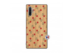 Coque Samsung Galaxy Note 10 Plus Rose Pattern Bois Bamboo