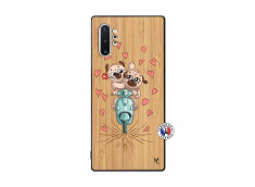 Coque Samsung Galaxy Note 10 Plus Puppies Love Bois Bamboo