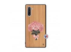 Coque Samsung Galaxy Note 10 Bouquet de Roses Bois Bamboo
