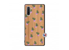 Coque Samsung Galaxy Note 10 Cactus Pattern Bois Bamboo