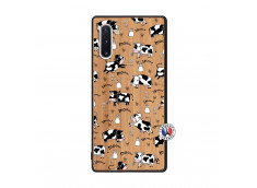 Coque Samsung Galaxy Note 10 Cow Pattern Bois Bamboo