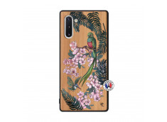 Coque Samsung Galaxy Note 10 Flower Birds Bois Bamboo
