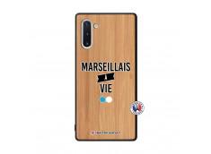 Coque Samsung Galaxy Note 10 Marseillais à Vie Bois Bamboo