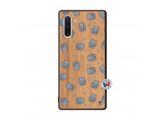 Coque Samsung Galaxy Note 10 Petits Hippos Bois Bamboo