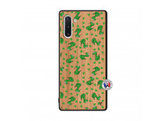 Coque Samsung Galaxy Note 10 Petits Serpents Bois Bamboo
