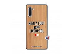 Coque Samsung Galaxy Note 10 Rien A Foot Allez Liverpool Bois Bamboo