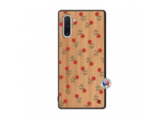 Coque Samsung Galaxy Note 10 Rose Pattern Bois Bamboo