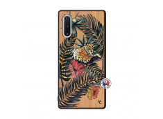 Coque Samsung Galaxy Note 10 Leopard Tree Bois Bamboo