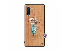 Coque Samsung Galaxy Note 10 Puppies Love Bois Bamboo