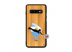Coque Samsung Galaxy S10 Plus Coupe du Monde Rugby-Argentine Bois Bamboo