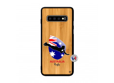 Coque Samsung Galaxy S10 Plus Coupe du Monde Rugby-Australia Bois Bamboo