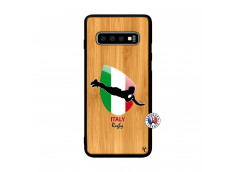 Coque Samsung Galaxy S10 Plus Coupe du Monde Rugby-Italy Bois Bamboo
