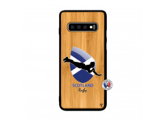 Coque Samsung Galaxy S10 Plus Coupe du Monde Rugby-Scotland Bois Bamboo
