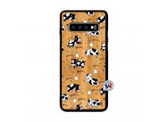 Coque Samsung Galaxy S10 Plus Cow Pattern Bois Bamboo