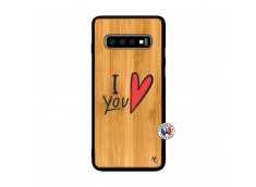 Coque Samsung Galaxy S10 Plus I Love You Bois Bamboo