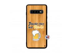 Coque Samsung Galaxy S10 Plus Jamais Sans Ma Blonde Bois Bamboo
