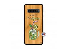Coque Samsung Galaxy S10 Plus Je peux pas J'ai Apéro Bois Bamboo