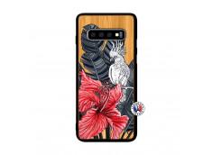 Coque Samsung Galaxy S10 Plus Papagal Bois Bamboo