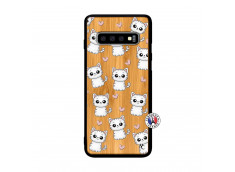 Coque Samsung Galaxy S10 Plus Petits Chats Bois Bamboo