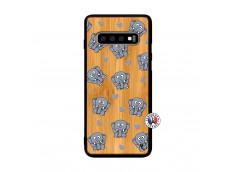 Coque Samsung Galaxy S10 Plus Petits Elephants Bois Bamboo