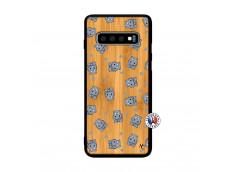 Coque Samsung Galaxy S10 Plus Petits Hippos Bois Bamboo