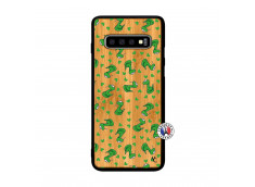 Coque Samsung Galaxy S10 Plus Petits Serpents Bois Bamboo