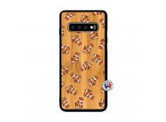 Coque Samsung Galaxy S10 Plus Petits Poissons Clown Bois Bamboo