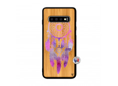 Coque Samsung Galaxy S10 Plus Purple Dreamcatcher Bois Bamboo
