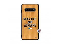 Coque Samsung Galaxy S10 Plus Rien A Foot Allez Auxerre Bois Bamboo