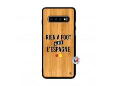 Coque Samsung Galaxy S10 Plus Rien A Foot Allez L'Espagne Bois Bamboo