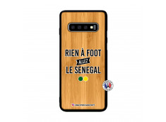 Coque Samsung Galaxy S10 Plus Rien A Foot Allez Le Senegal Bois Bamboo