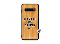 Coque Samsung Galaxy S10 Plus Rien A Foot Allez Sochaux Bois Bamboo