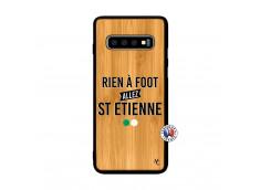 Coque Samsung Galaxy S10 Plus Rien A Foot Allez St Etienne Bois Bamboo
