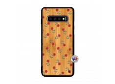 Coque Samsung Galaxy S10 Plus Rose Pattern Bois Bamboo