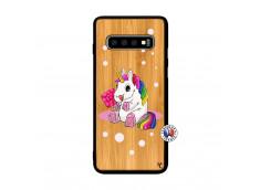 Coque Samsung Galaxy S10 Plus Sweet Baby Licorne Bois Bamboo