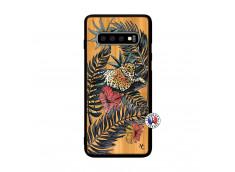 Coque Samsung Galaxy S10 Plus Leopard Tree Bois Bamboo