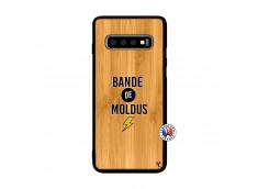 Coque Samsung Galaxy S10 Bandes De Moldus Bois Bamboo