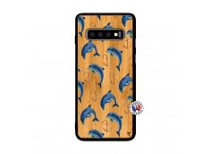 Coque Bois Samsung Galaxy S10 Dauphins