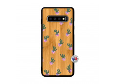 Coque Samsung Galaxy S10 Cactus Pattern Bois Bamboo