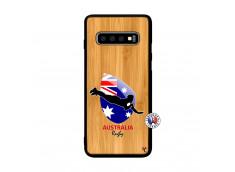 Coque Samsung Galaxy S10 Coupe du Monde Rugby-Australia Bois Bamboo