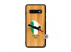 Coque Samsung Galaxy S10 Coupe du Monde Rugby-Ireland Bois Bamboo