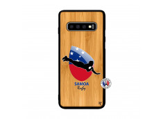 Coque Samsung Galaxy S10 Coupe du Monde Rugby-Samoa Bois Bamboo