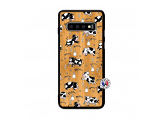 Coque Samsung Galaxy S10 Cow Pattern Bois Bamboo
