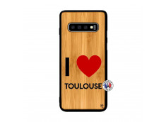 Coque Samsung Galaxy S10 I Love Toulouse Bois Bamboo